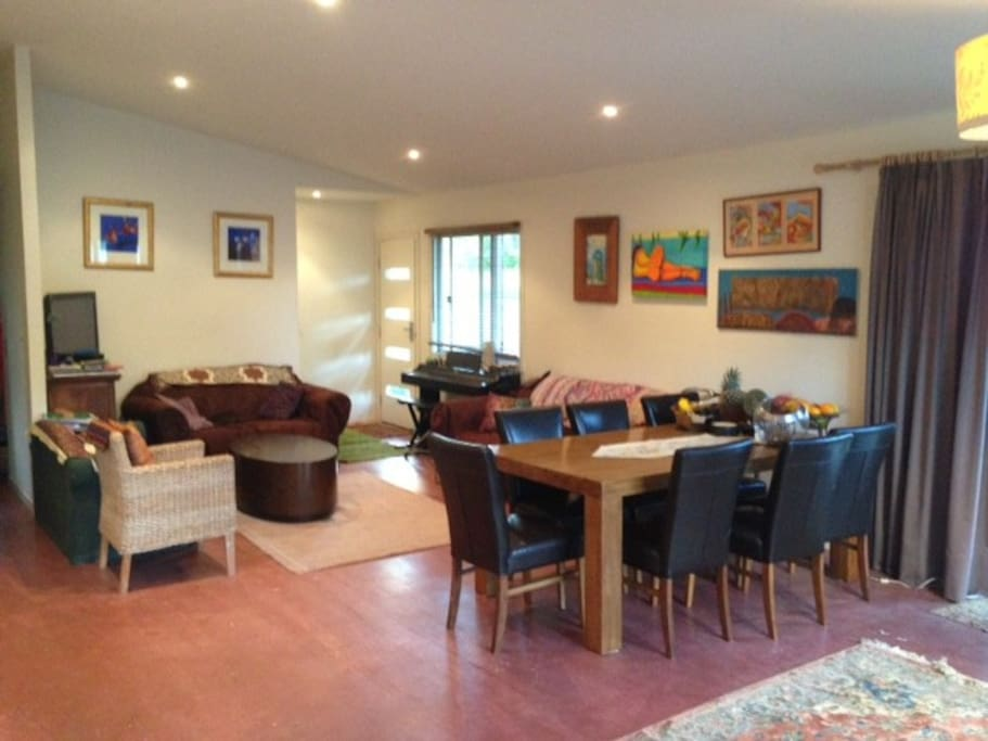 dining and lounge - open plan