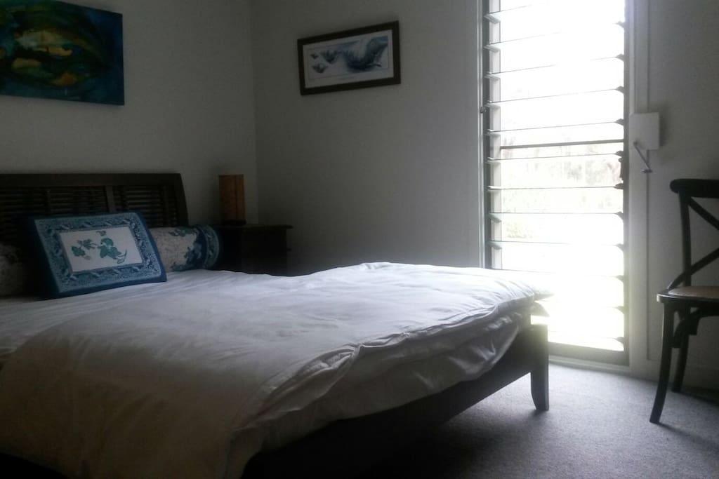 Quiet & comfty queen bedroom w shared bathroom