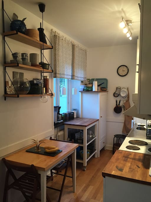 Kitchen with a table for two