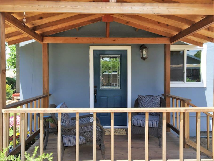 Your front door is on the deck