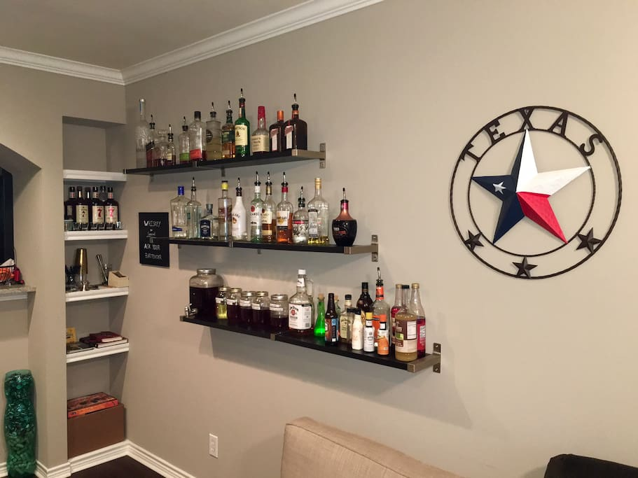 Bar in living room, (available for additional cost)