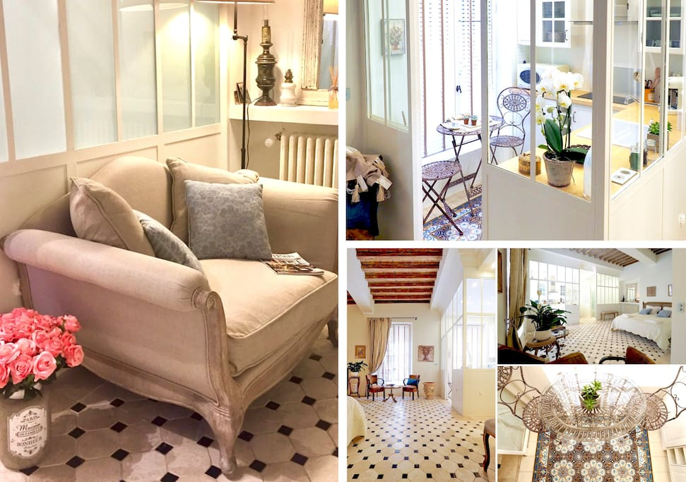 Les Anges II is a very exclusive home, in central Avignon, bright and comfortable, with embroided linens, marble floors, glass walls, 18th century beams... and lots of free nespresso, tea, fruits, cookies... and a car service to pick you up at the station!