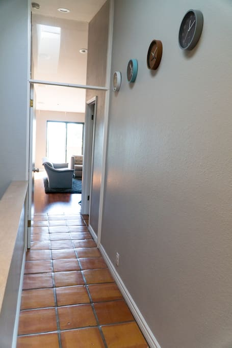 View from the main entry into your 2bedroom / 2bathroom flat. You have locked entry and the hallway is semi-private.