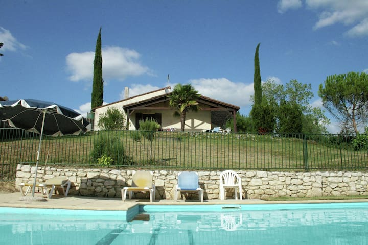 Holiday home with enclosed private swimming pool.