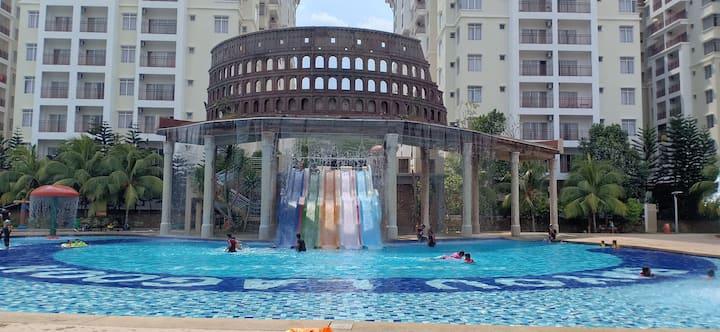Olive Hut(Jacuzzi)@Bayou Lagoon Park Resort,Melaka