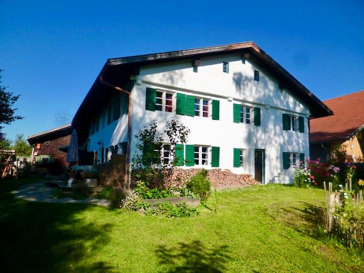 Wohnung in denkmalgeschütztem Bauernhof im Allgäu