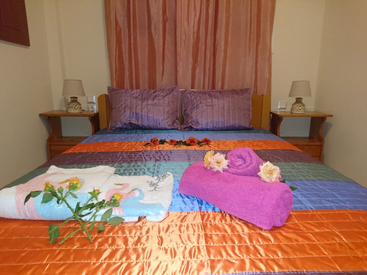 Double bed. Enjoy your sleep in a quiet place and feel the joy of your holiday