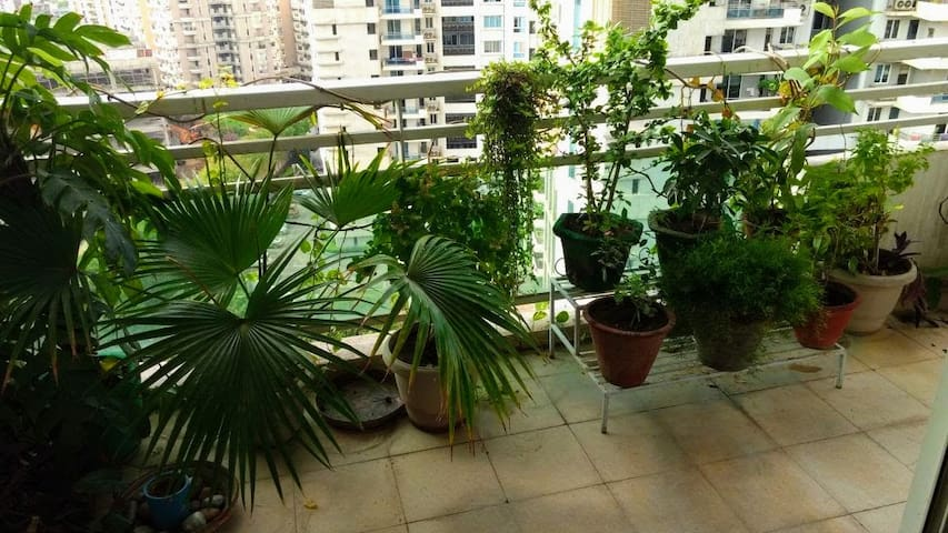 Private room +bath in a stylish 4BHK on 14th floor