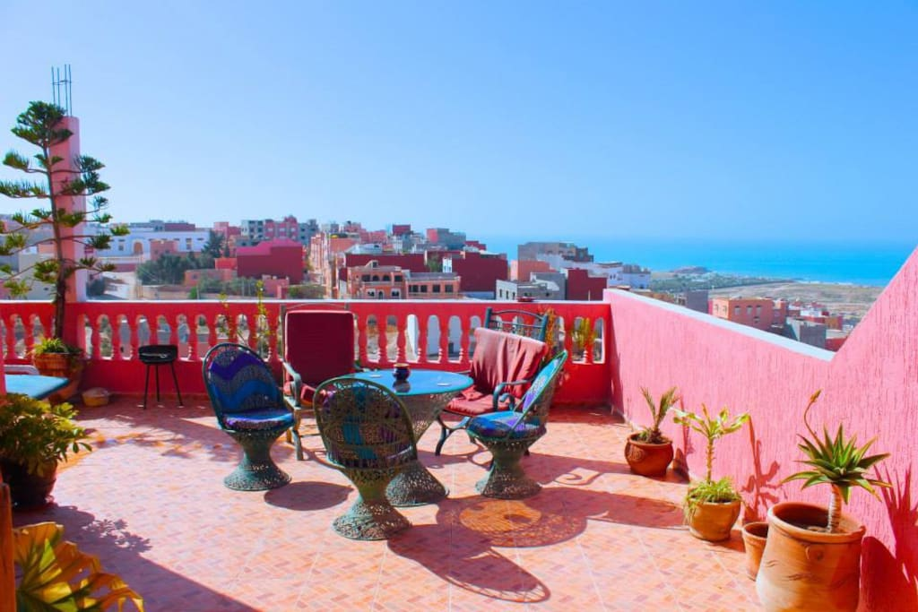 Views from the terrace are amazing, Tamraght, Taghazout Bay, Agadir, Morocco