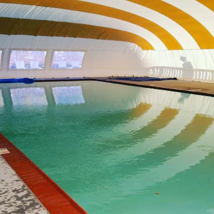 Heated Pool at campground in winter!
