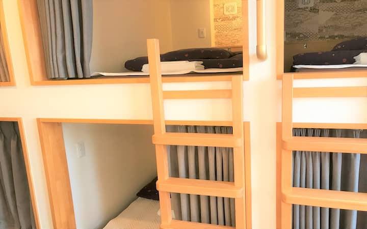 Comfy Single Cabin Dorm+Spacious Lounge & Kitchen