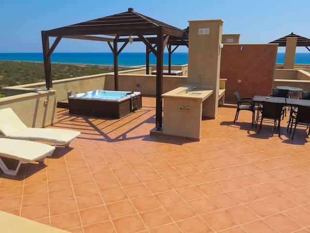 Luxury sea view beach penthouse apartment