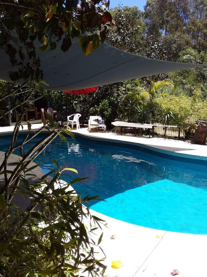 Pool seen from front door