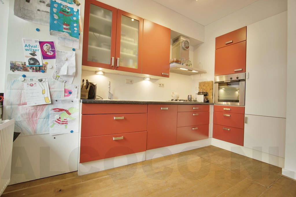 Open kitchen with all modern facilities.