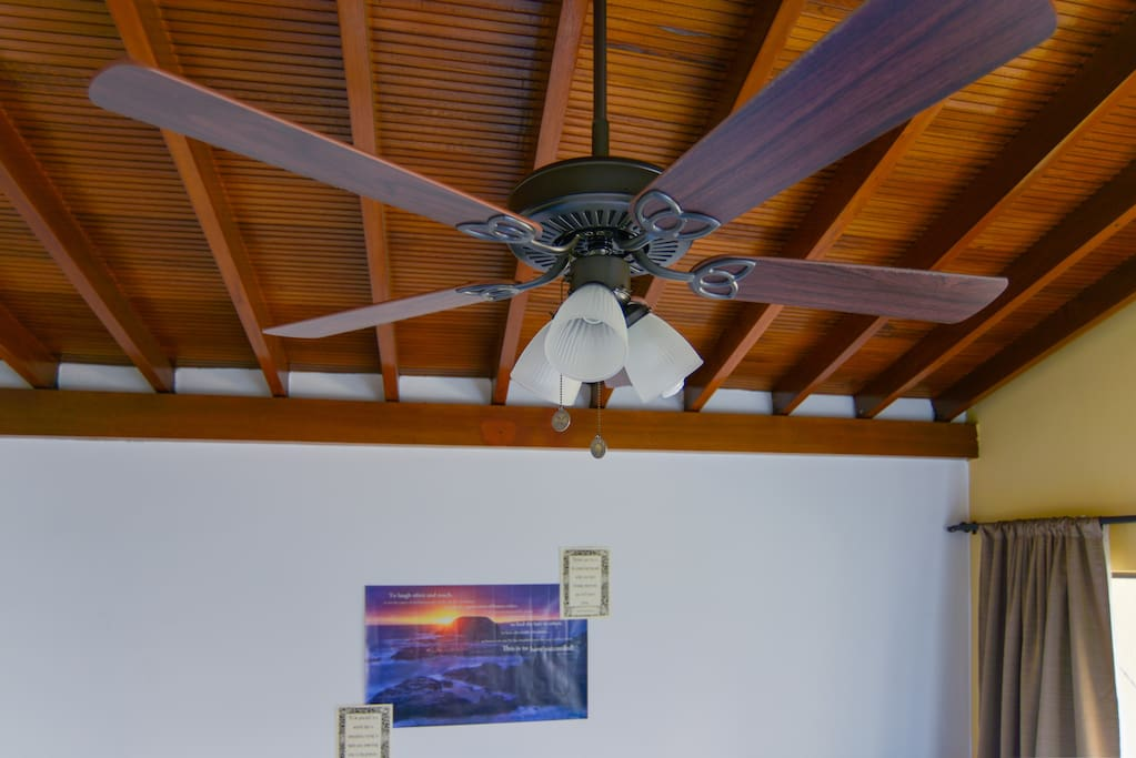 ceiling fan to cool you down..... lovely