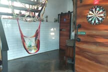 Swing chairs for fun and enjoy the ambience..