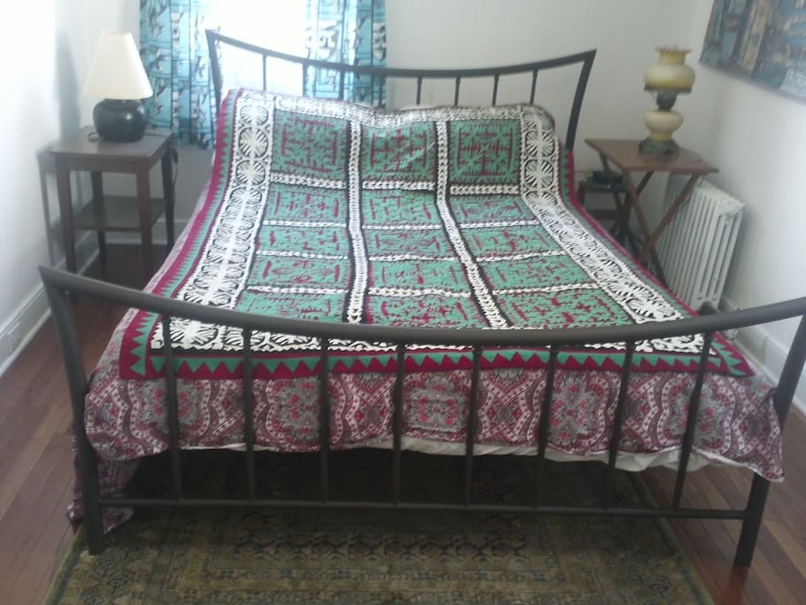 Queen size bed to accommodate two