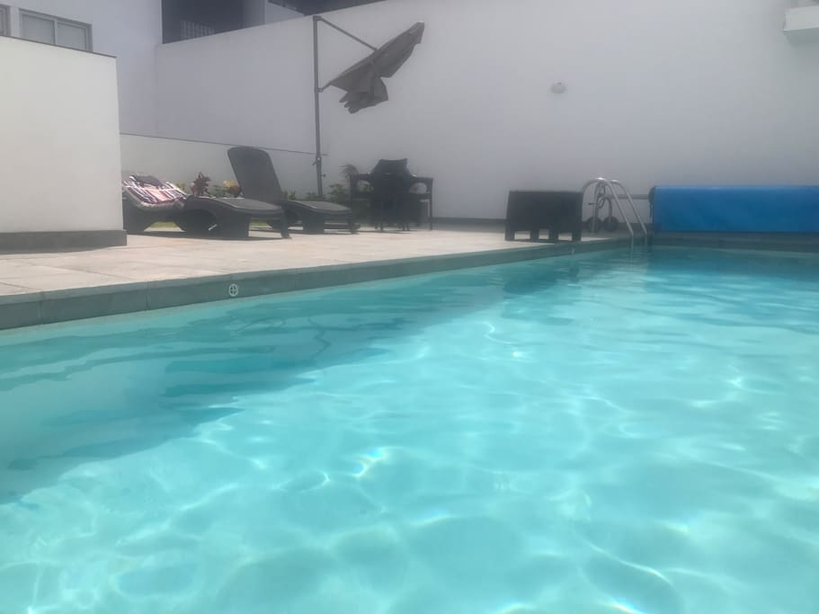 You have access to the pool and small work out room