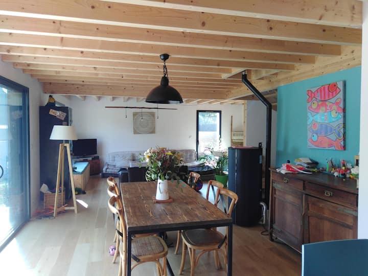 Maison en bois, golfe du Morbihan