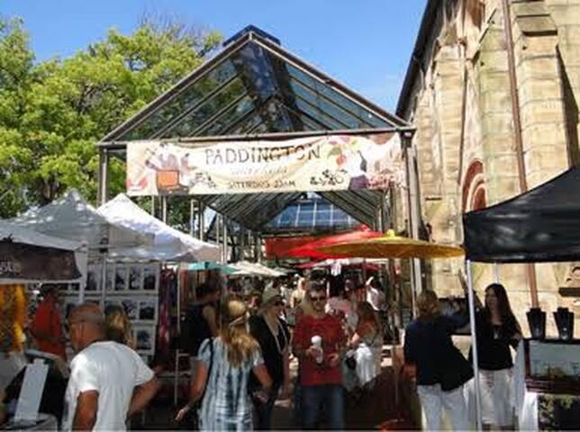 Famous Paddington markets a short walk away
