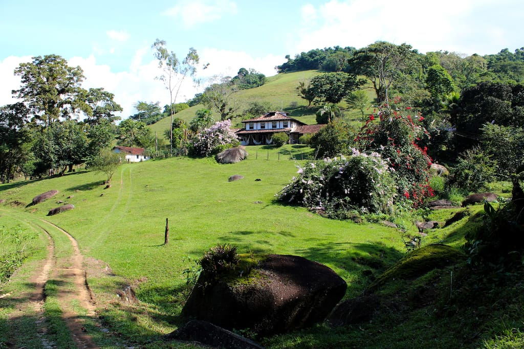overview of the house and terrain