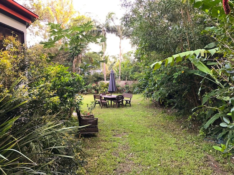 lush garden surrounds