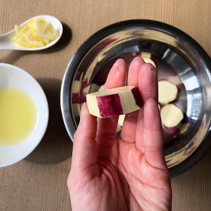 Stripe sweet potato with Lemon appatise