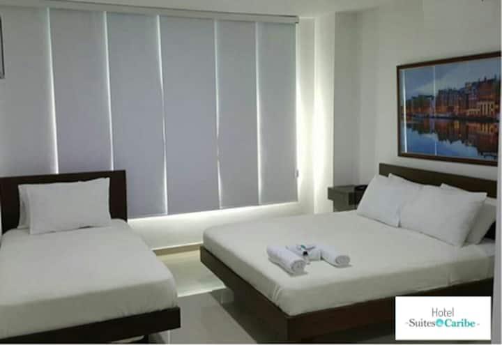 HOTEL SUITES CARIBE- HABITACIÓN FAMILIAR