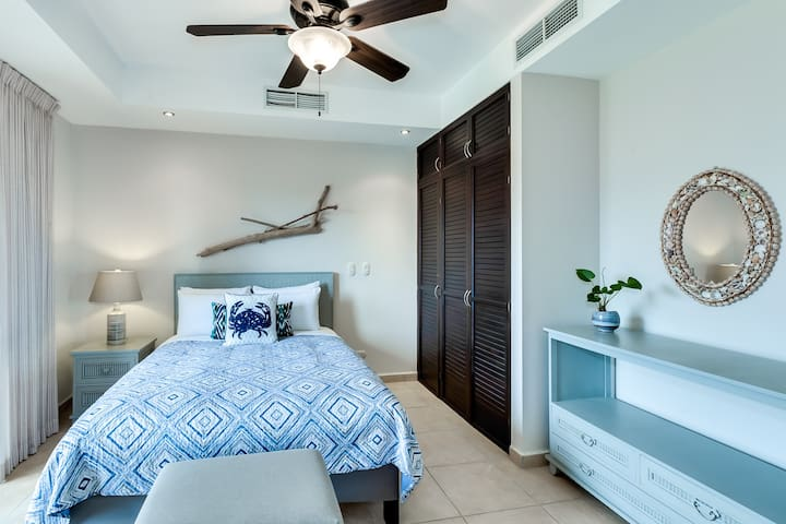 Third bedroom with private balcony and Jack & Jill bathroom.