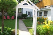 Large yard and flower gardens to enjoy