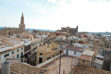 Ático con terraza y vistas CENTRO - Пальма-де-Майорка - Квартира