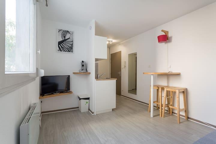 Renovated studio near the University of Lyon 3