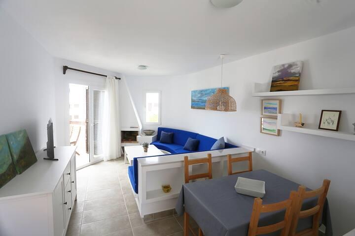 Playa, piscina y comodidad a 4 km de Ciutadella