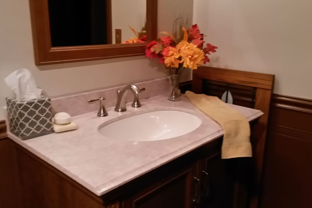 "Guest Bathroom "" The amenities in the bathroom are a nice touch, which are perfect if you've forgotten toiletries.""  Stephen Sept 2017"