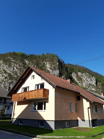 Spacious two bedroom apartment in Mojstrana