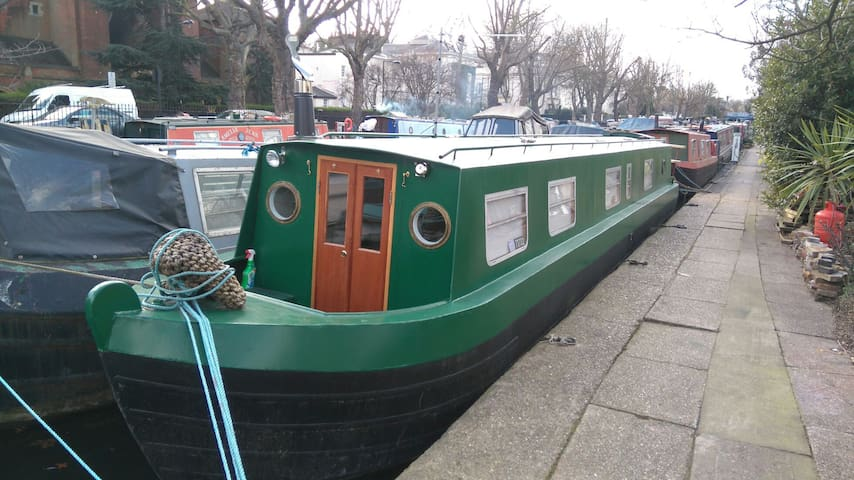 'Josefine' Narrow boat in Little Venice, London. - Londres - Bateau
