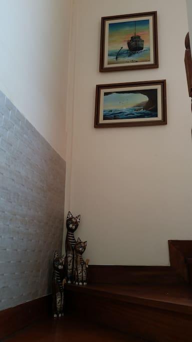 Escada de acesso aos quartos