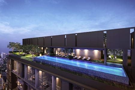 Top Floor Infinity Pool in the Heart of the City - Bangkok - Wohnung