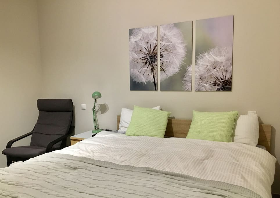 Your bedroom with super king size bed!