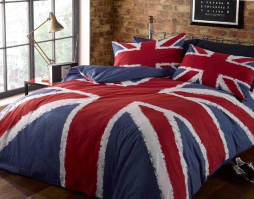 One of the duvet covers (not the room!). Note that  all bed linen is provided.