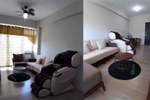 Living Area With Japan made Chair Massage