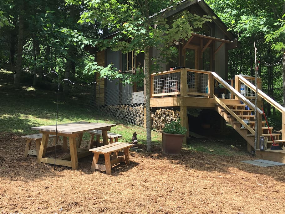 Our cabin and picnic area.