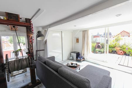 Beautiful studio with Roof terrace and city view - Amsterdam - Appartement