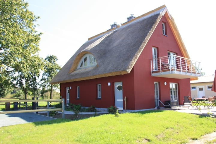 Traumhaftes Ferienhaus Hofblick Gustowerhöfen