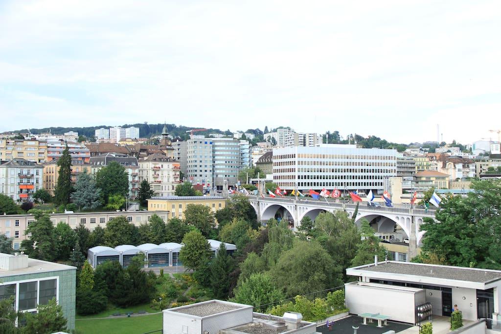 Vue de la chambre (Pont Chauderon)