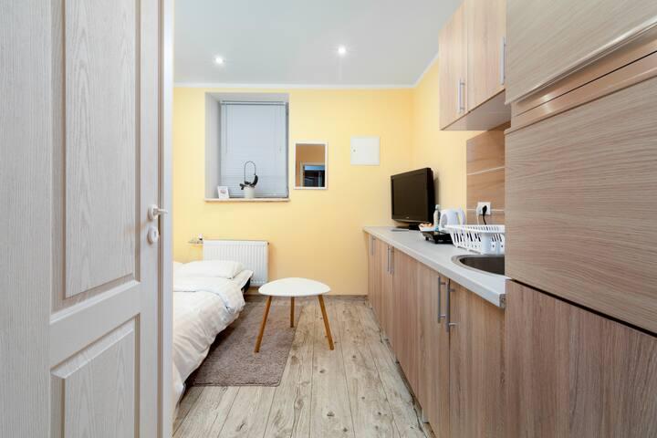 New compact apartment in quiet Riga center