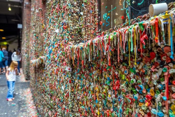 Infamous Gum Wall is right around the corner
