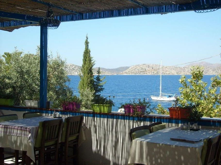 Sea view from restaurant