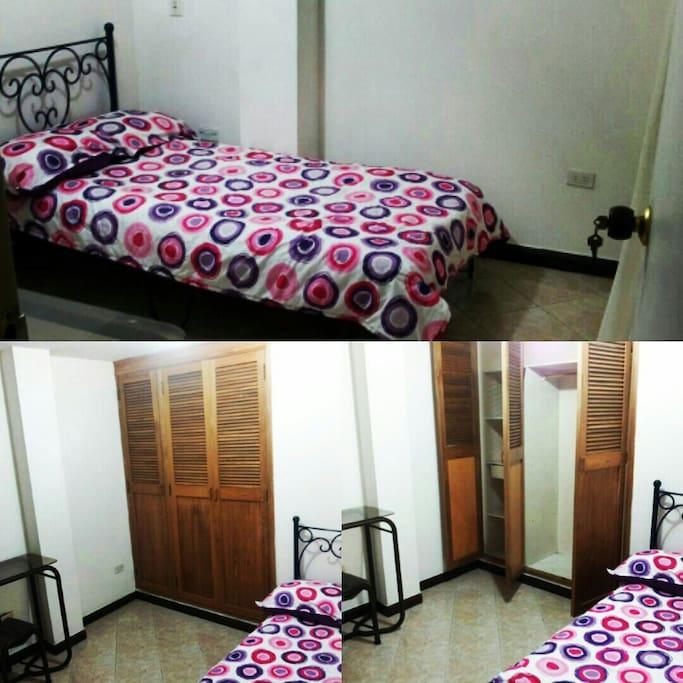 Es una habitación cómoda y confortable
