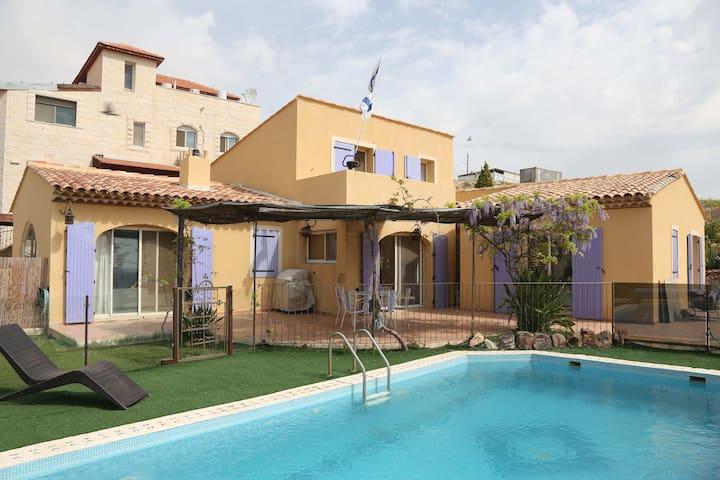 villa  avec piscine pres de Jerusal - Kfar Adumim